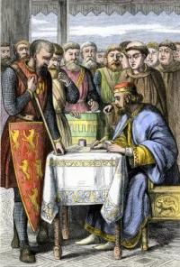 Magna Carta signing. Source: Wikipedia