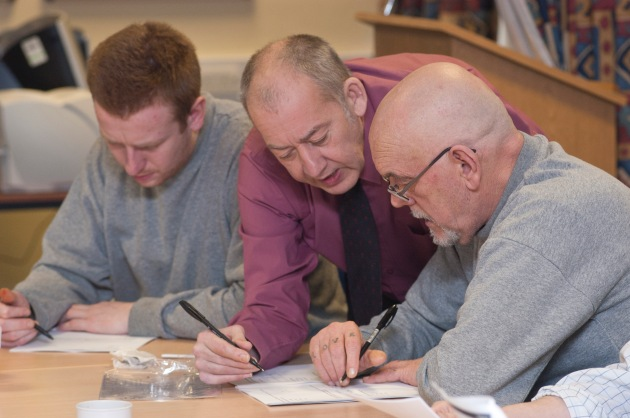 Prison education rehabilitation class Mark Harvey