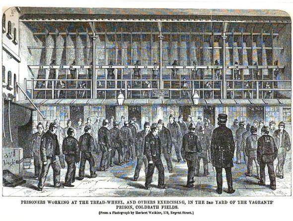 A Prison Treadmill or Treadwheel. Photo: Wikimedia commons