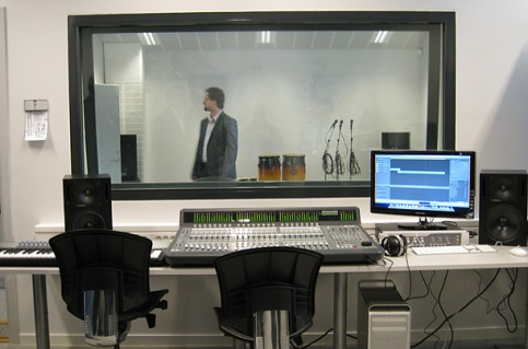 Halden Prison recording studio. Source: Trond Isaksen/Statsbygg on Time.com