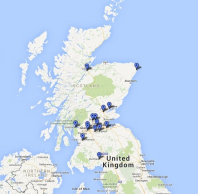 Interactive map prisons Soctland