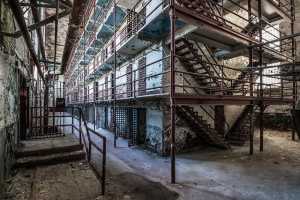 Abandoned derelict obselete prison