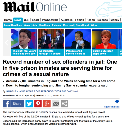72,000 sex offenders in England & Wales might be overstating the case just a little. Source: Daily Mail