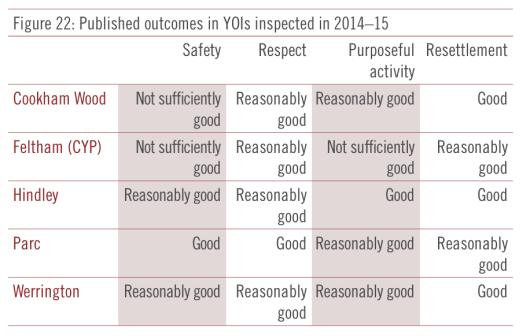 HMIP report on Young Offender Institutions