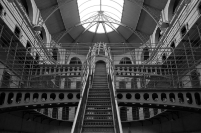 The Panopticon, a staple design of the Victorian prison, designed originally by Jeremy Bentham. Image: