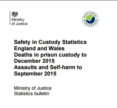 The Ministry of Justice figures reveal suicide and self-harm is rising in UK prisons.