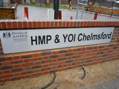 """The """"silly"""" cardboard cut-outs appeared at HMP Chelmsford. Image: Ambernectar 13"""